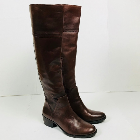 7d5267ba70a VINCE CAMUTO Knee High Leather Bendra Boots Sz 10.  M 5be354c34ab63314c15d3866